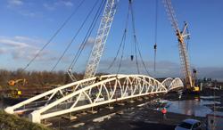 Solines liefert Stahlrohre für die Geh- und Radwegbrücken in Hamm