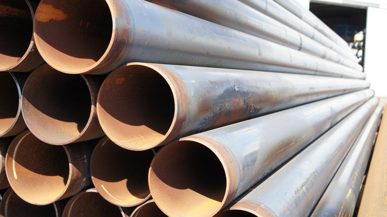 Stahlrohre mit PE-Beschichtung gereinigt | Ø 273,0 x 7,1 mm