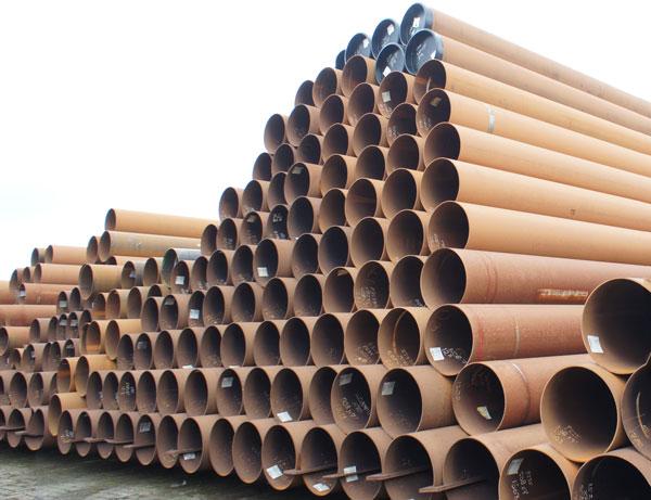 langsnaad gelaste stalen buizen 508,0 x 7,1 mm in staalkwaliteit P235 of X70