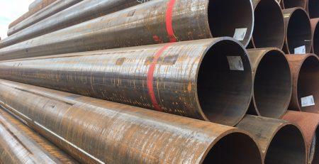 200 Tonnen längsnahtgeschweißte Rohre Ø 508 x 16 bis 16,3 mm