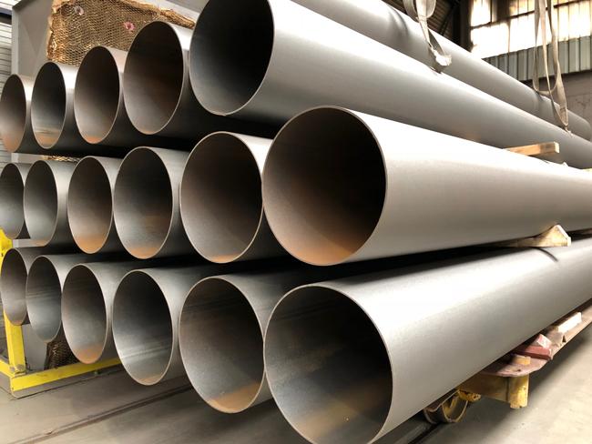 Stahlrohre für eine Malzfabrik