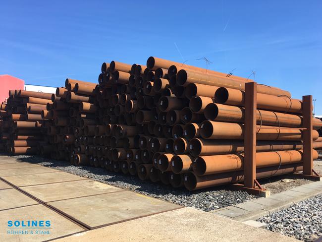 500 Ton Stahlrohre von Ø 406,4 x 6,30 mm aus Vorrat