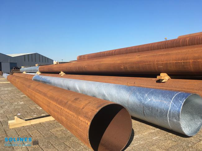 Stahlrohre für das Eiland van Maurik