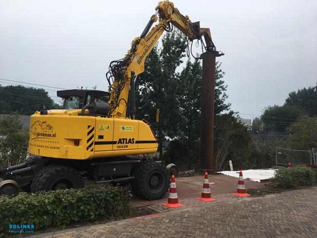 Neue Lärmschutzwände entlang der Bahnlinie bei Bergen op Zoom