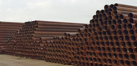 1.500 to längsgeschweißte Stahlrohre 508,0 x 8,8 mm