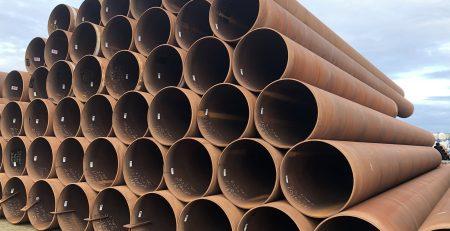 Über 700 Tonnen spiralgeschweißte Rohre mit Ø 1016,0 x 17,5 mm